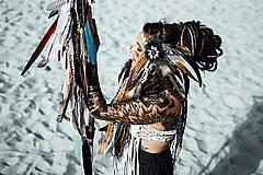 Ozdoby do vlasov - Čelenka z kolekcie Halloween Šamanka - 9946171_