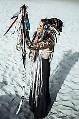 Ozdoby do vlasov - Čelenka z kolekcie Halloween Šamanka - 9946172_