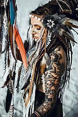 Ozdoby do vlasov - Čelenka z kolekcie Halloween Šamanka - 9946173_