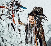 Ozdoby do vlasov - Čelenka z kolekcie Halloween Šamanka - 9946174_