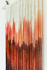 """Dekorácie - Nástenná dekorácia z dreva a vlny """"Rubínová krajina"""" - 9949281_"""