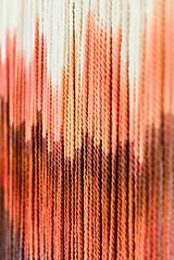 """Dekorácie - Nástenná dekorácia z dreva a vlny """"Rubínová krajina"""" - 9949283_"""