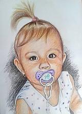 Kresby - dievčatko s cumlíkom... :-) - 9947380_