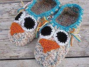 Topánočky - hnedá sova - 9946200_