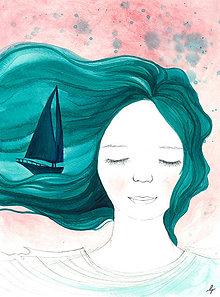 Obrázky - Snívam o mori II, ilustrácia - 9946293_