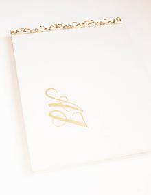 "Papiernictvo - Svadobný album ""gold A.J."" - 9947108_"