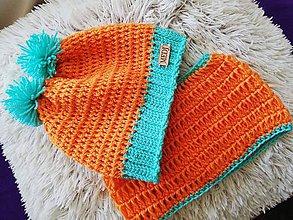 Detské súpravy - Oranžový setík :) - 9947794_