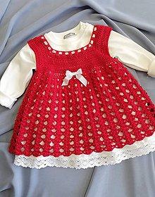 Detské oblečenie - červené šatôčky... - 9947856_