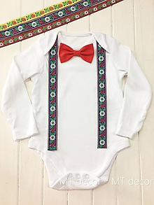 Detské oblečenie - FOLK BODY // FOLKLÓRNE BODIČKO - 9946506_
