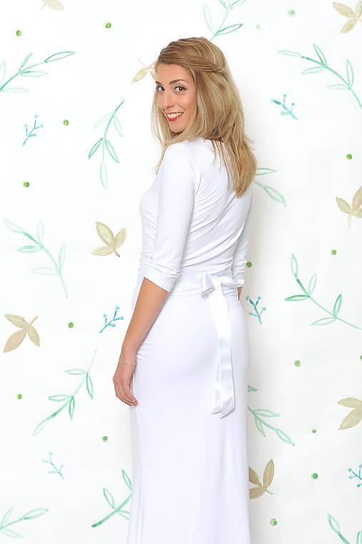b26dbd2a791d Dlhé šaty s riasením - Alex