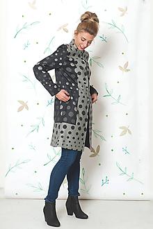 Kabáty - Žakárový zoštíhľujúcí kabátik - veľ. 38 - 9947930_