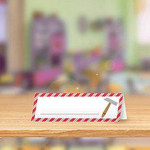 Papiernictvo - Minimalistické menovky do lavice pre prváčikov - 9948653_