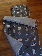 Textil - Neodkopnuteľná deka a podložka UNI s nepremokavým spodným dielom - 9951641_