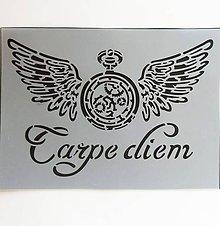 Pomôcky/Nástroje - Šablóna Stamperia - 15x20 cm - carpe diem, steampunk - 9950728_