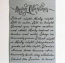 Pomôcky/Nástroje - Šablóna Stamperia - 15x20 cm - Vianoce, Tichá noc, christmas - 9951022_