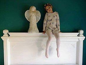 Dekorácie - Velky stojaky anjel z plsti cca 60cm - 9949918_