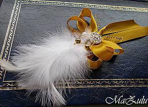 Pierka - svadobné pierko v zlatom - 9950622_