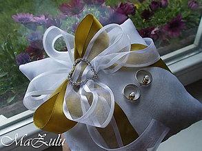 Prstene - svadobný vankúšik - 9950640_
