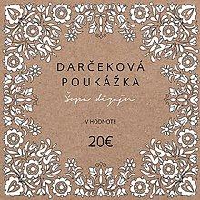 Darčekové poukážky - DARČEKOVÁ POUKÁŽKA - 9953121_