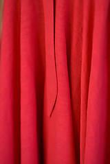 Šaty - Dlhé červené ľanové šaty - 9950677_