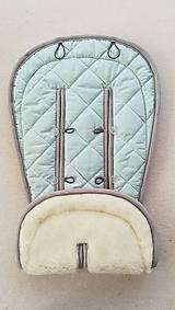 Textil - MERINO podložka do kočíka BUGABOO Bee / Buffalo/ Cameleon/ Donkey s ozdobným prešitím ELEGANT Mint 100% wool - 9950999_