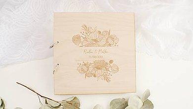 Papiernictvo - Drevená svadobná kniha hostí - 9950504_