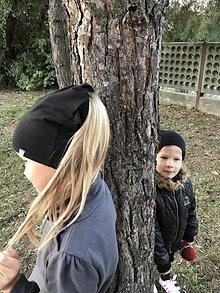Detské čiapky - Čiapka na cop - 9951639_
