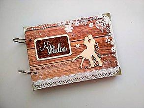 Papiernictvo - Vintage svadobný album * kniha hostí A5 - 9950176_