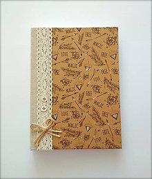 Papiernictvo - Diár Ručne šitý sketchbook  * zápisník A5 - 9950920_