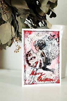 Papiernictvo - Vianočná pohľadnica CHRISTMAS LADY - 9951409_