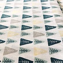 Textil - les so zlatotlačou, 100 % bavlna Francúzsko, šírka 150 cm - 9950124_