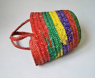 Košíky - Pletený palmový kôš červená - 9952103_