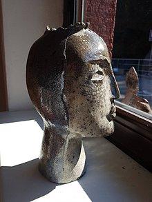 Socha - Keramika .Hlava - 9936495_
