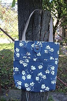 Nákupné tašky - Taška květy na modré II. - 9951424_