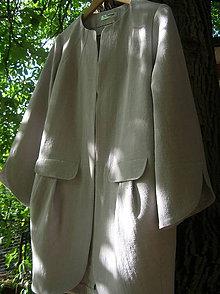 Kabáty - Plášť z ľanu - 9952613_