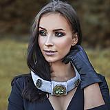 Štýlový pletený náhrdelník-