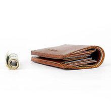 Peňaženky - Kožená peňaženka na bankovky a kreditné karty ZMEJSS - 9951045_