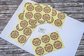 Papier - Nálepky - Svadobná výslužka - 9952029_