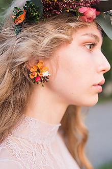 Náušnice - Kvetinové klipsne
