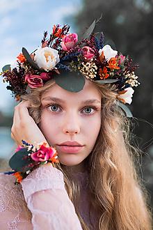 """Ozdoby do vlasov - Kvetinový polvenček """"stmievanie plné lásky"""" - 9951634_"""