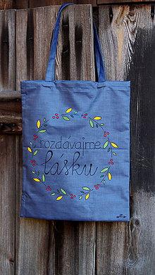 Nákupné tašky - Plátená taška ručne maľovaná- rozdávajme lásku - 9952337_