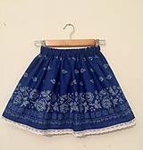 Detské oblečenie - Modrá folklórna suknička - 9950972_