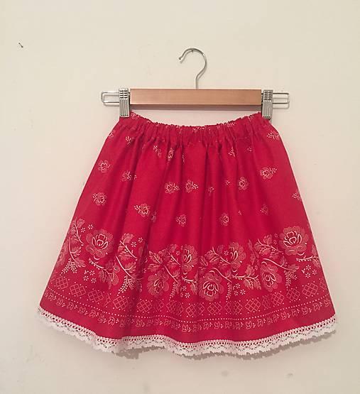 d51ea212ff25 Červená folklórna suknička   ivapetrovska - SAShE.sk - Handmade ...