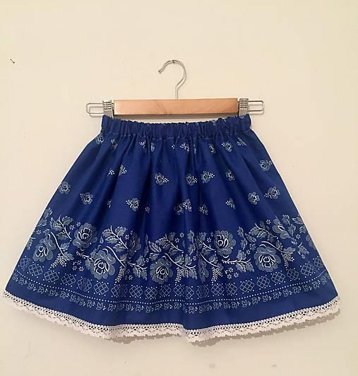 967740ab83a2 Modrá folklórna suknička   ivapetrovska - SAShE.sk - Handmade Detské ...