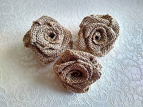 Kytice pre nevestu - ruže z juty - 9950126_
