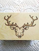Krabičky - Box z prírodného dreva - Jeleň - 9950038_