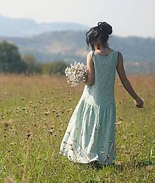 Šaty - Maxi mušelínové zelené - 9950517_