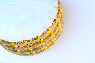 Úžitkový textil - PUF Rôzne farby a vzory (Ovca) - 9953095_