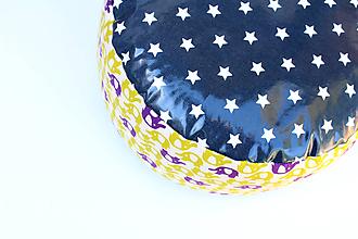 Úžitkový textil - PUF Rôzne farby a vzory (Slony) - 9953196_