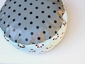 Úžitkový textil - PUF Rôzne farby a vzory (Mint Panda) - 9953198_